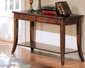 Franklin Sofa Table with Slate Tile Top and Storage CO700259