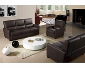 Full Italian Leather Three Piece Reclining Sofa Set 44L641-45