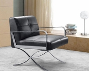 Full Leather Lounge Chair in Contemporary Style 44LG0731