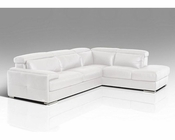 Full Leather Sectional Sofa 44L5958