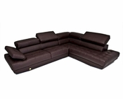 Full Top Grain Leather Sectional Sofa Made in Italy 44L6012