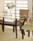 Glass Dining Table in Cappuccino CO-101491