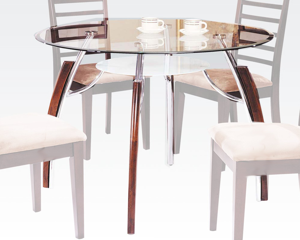 Glass dining table martini by acme furniture ac08185 for Glass top dining table next