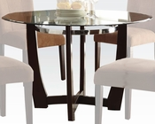 Glass Round Dining Table Baldwin by Acme Furniture AC07815A