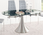 Glass Top Dining Table w/ Extension 33-T017