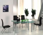 Glass Top Modern Dining Set OL-9
