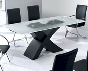 Glass Top Modern Dining Table Moderno European Design 33D192