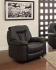 Glider Reclining Chair Cade by Homelegance EL-8512BLK-1