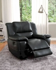 Glider Reclining Chair Cantrell by Homelegance EL-9778BLK-1