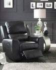 Glider Reclining Chair Gannet by in Black Homelegance EL-8529BLK-1
