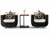 Gloria Outdoor Patio 3pc Seating Set 44PH01V1