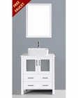 Glossy White 30in Single Vanity by Bosconi BOAW130RC