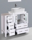 Glossy White 36in Single Vanity by Bosconi BOAW124RC1S