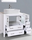 Glossy White 42in Single Vanity by Bosconi BOAW130RC1S