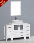 Glossy White 54in Single Vanity by Bosconi BOAW130RC2S