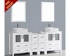 Glossy White 84in Double Vanity by Bosconi BOAW230RC2S