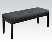 Gray Linen Bench Effie by Acme Furniture AC71543