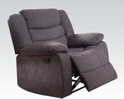 Gray Recliner Velvet Jacinta by Acme Furniture AC51412