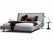 Grey Fabric Platform Bed in Contemporary Style 44B134BD