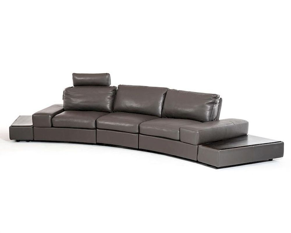 Moving Backs Italian Leather Sectional Sofa Set 44l5922