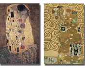 Gustav Klimt Kiss and Fulfillment 2pc Set