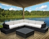 Harbor Patio Sectional Set in Espresso White by Modway MY-EEI611EW