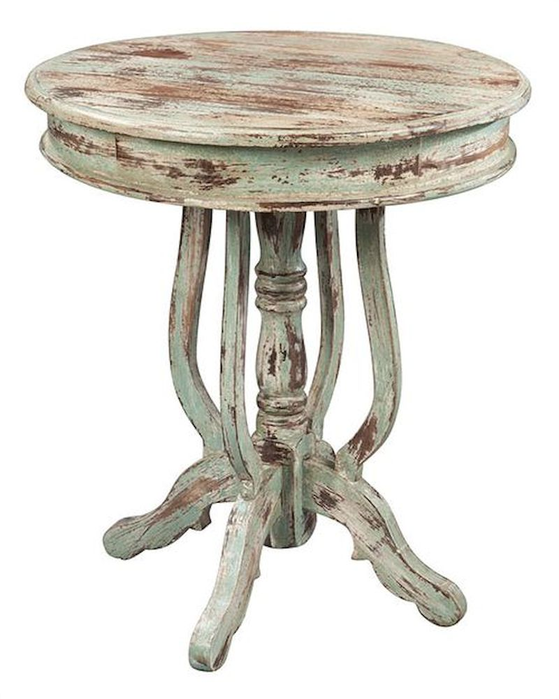 Hekman Antique Painted Finish Round Table He 27263