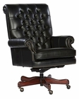 Hekman Executive Chair in Black Leather HE-79253B