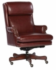 Hekman Leather Executive Chair in Merlot HE-79252M