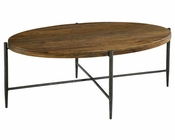 Hekman Metal/ Wood Oval Coffee Table HE-27495