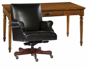 Hekman Office Set w/ Plank Top Writing Table HE-27302-SET