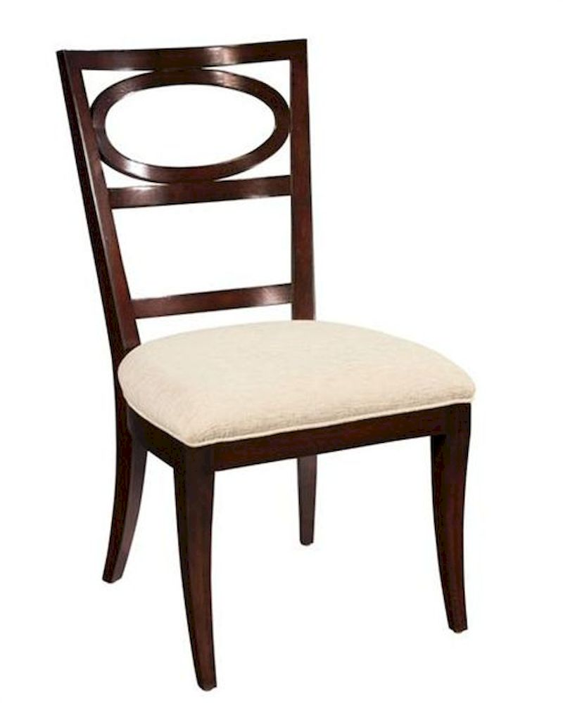 Hekman oval back side chair central park he 23125 set of 2 for White oval back dining chair