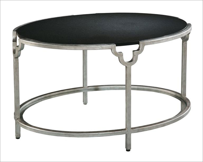 Hekman Oval Granite Top Coffee Table He 27412