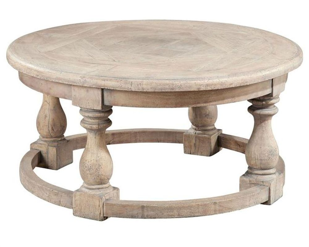 Hekman Round Parquet Coffee Table HE 27324