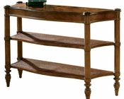 Hekman Sofa Table w/ Two Cane Shelves HE-728360081