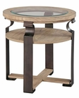 Hekman Weathered Wood Round Lamp Table HE-27450
