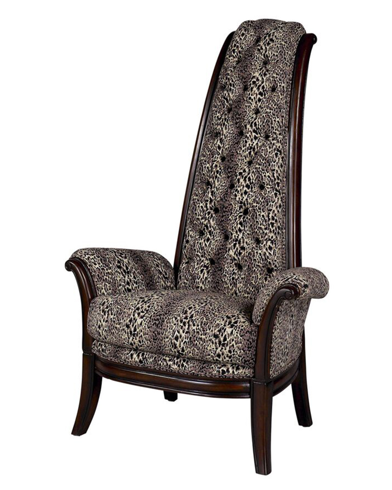 High back accent chairs aretha high back chair abbott for Armchair with high back