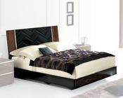 High Gloss Bed in Contemporary Style 33B152