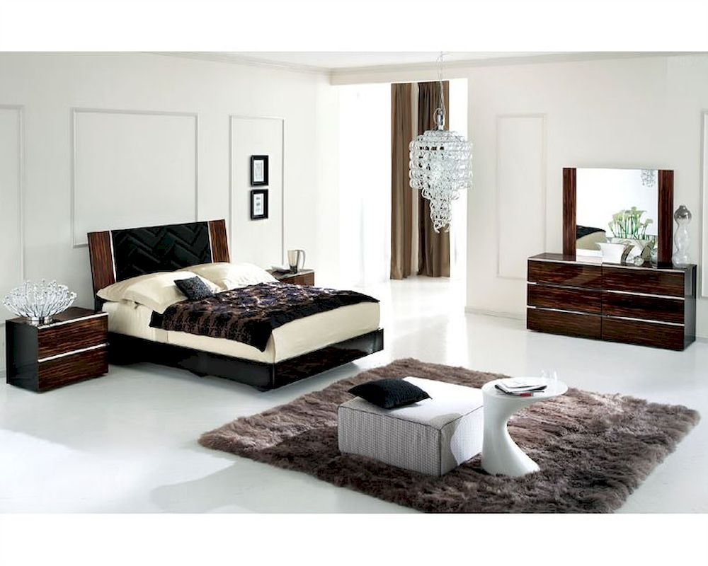 High Gloss Bedroom Set In Contemporary Style B - High gloss bedroom furniture sale