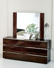 High Gloss Dresser and Mirror in Contemporary Style 33B154