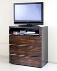High Gloss Media Chest in Contemporary Style 33B158