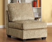Homelegance Armless Chair Burke Modular in Brown Beige EL-9709CN-AC