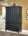 Homelegance Armoire in Black Sand Pottery EL875-7