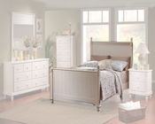 Homelegance Bed in White Sand Pottery EL875KW-1CK
