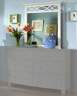 Homelegance Bedroom Mirror Sanibel in White EL2119W-6