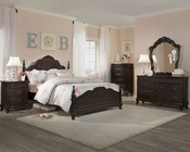 Homelegance Bedroom Set Cinderella in Dark Cherry EL-1386NCSET