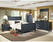 Homelegance Bedroom Set in Black Sand Pottery EL875SET