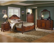 Homelegance Bedroom Set in Warm Cherry Madaleine EL1385SET