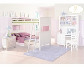 Homelegance Bunk Bed Bedroom Set in White Pottery ELB875W-1SET