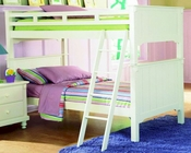 Homelegance Bunk Bed in White Pottery EL-B875W-1